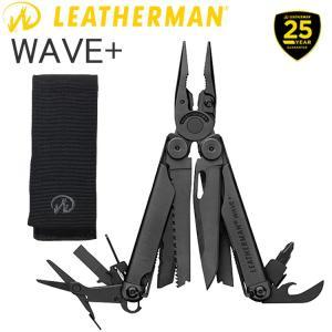 送料無料 25年保証 LEATHERMAN レザーマン WAVE PLUS BLACK ウェーブ プラス ブラック 17機能マルチツール 正規輸入代理店品 あすつく対応|freeline