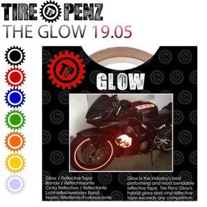 メール便送料無料 タイヤペンズ THE GLOW グロウ 19.05mm×9M リフレクトラインテープ 塗装保護接着剤 リムステッカー ホイールテープ|freeline