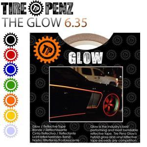 メール便送料無料 タイヤペンズ THE GLOW グロウ 6.35mm×9M リフレクトラインテープ 塗装保護接着剤 リムステッカー ホイールテープ|freeline