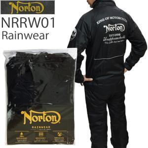 NORTON ノートン レインウェア NRRW01 BLACK バイク用雨カッパ 上下セット あすつ...
