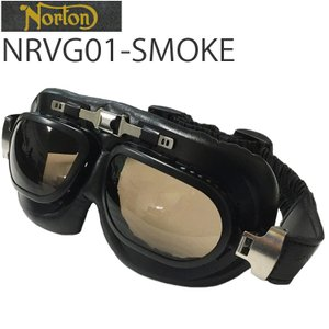 NORTON ノートン バイク用ゴーグル NRVG01 ブラック/スモーク ビンテージ・クラシックスタイル あすつく対応|freeline