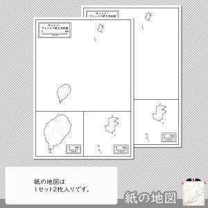 サントメ・プリンシペの紙の地図 freemap 04
