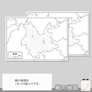雲南省の紙の地図 freemap 04