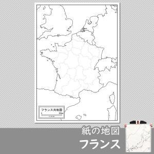フランスの紙の地図