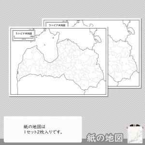 ラトビアの紙の地図|freemap|04