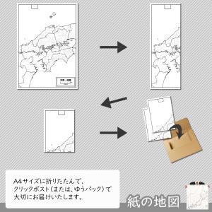 中国・四国地方の白地図|freemap|05