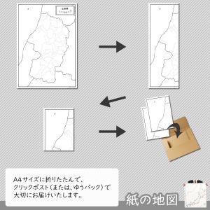 山形県の紙の白地図|freemap|05