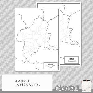 群馬県の紙の白地図|freemap|04