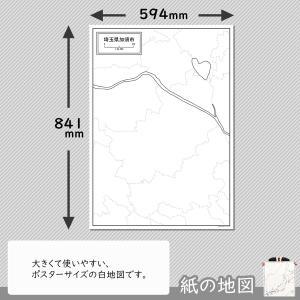 埼玉県加須市の紙の白地図|freemap|02