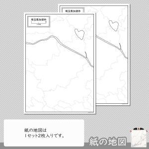 埼玉県加須市の紙の白地図|freemap|04