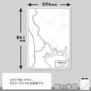 千葉県市川市の紙の白地図|freemap|02