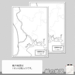 千葉県市川市の紙の白地図|freemap|04