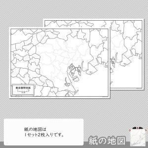 東京都特別区(23区)の紙の白地図|freemap|04