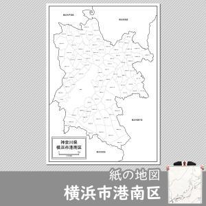 横浜市港南区の紙の地図 freemap