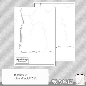 神奈川県茅ヶ崎市の紙の白地図|freemap|04