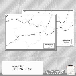 愛知県知立市の紙の白地図|freemap|04