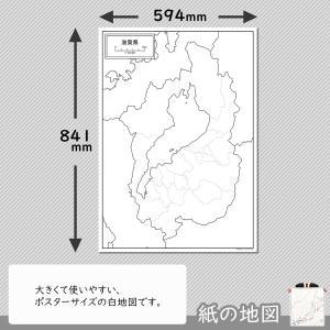 滋賀県の紙の白地図 freemap 02