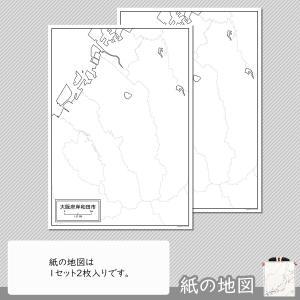 大阪府岸和田市の紙の白地図 freemap 04