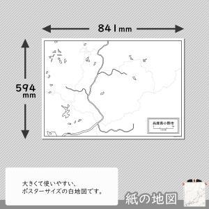 兵庫県小野市の紙の白地図 freemap 02