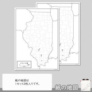 イリノイ州の紙の地図|freemap|04