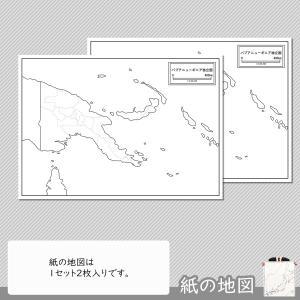 パプアニューギニアの紙の地図|freemap|04