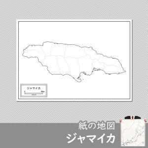 ジャマイカの紙の地図|freemap