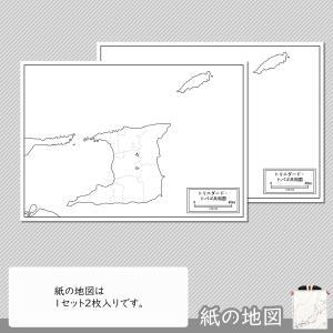 トリニダード・トバゴの紙の地図|freemap|04