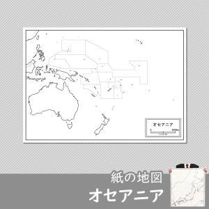 オセアニアの白地図|freemap