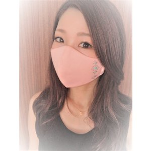 FREESマスク025 ラインストーン フリーズマスク キラキラ 水洗い100回洗える 日本製 FREES MASK|frees