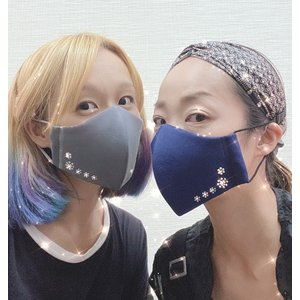 FREESマスク030 ラインストーン フリーズマスク キラキラ 水洗い100回洗える 日本製 FREES MASK|frees