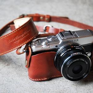 カメラホルダー レザー ロベルのOLYMPUS PEN E-P5ホルダー&ストラップ カメラホルダー ROBERUプレゼント 男性 誕生日 就職祝い|freespirits|03
