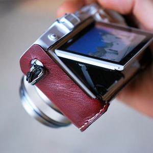 カメラホルダー レザー ロベルのOLYMPUS PEN E-P5ホルダー&ストラップ カメラホルダー ROBERUプレゼント 男性 誕生日 就職祝い|freespirits|06