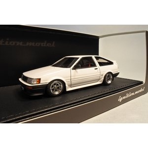 新品IG0472 イグニッションモデル1/43 トヨタ Corolla Levin (AE86) 3-Door GT Apex White|freestyle-hobby