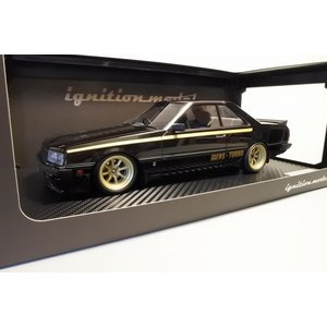 新品IG0986 イグニッションモデル1/18 日産 Skyline 2000 RS-Turbo (R30) Black ※Watanabe-Wheel|freestyle-hobby