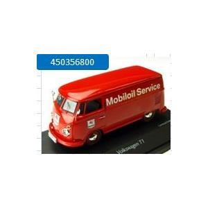 取寄せ450356800 シュコー 1/43 フォルクスワーゲン T1 ボックスバン Mobiloil Service レッド freestyle-hobby