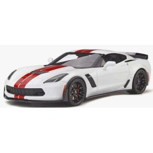 予約GTS214 GTスピリット 1/18 シボレー コルベット Z06 (C7) ホワイト/レッド 世界限定 999個|freestyle-hobby