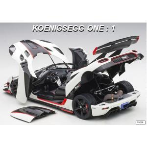 予約79016 オートアート 1/18 ケーニグセグ One:1 ホワイト/カーボンブラック/レッド コンポジットダイキャストモデル|freestyle-hobby