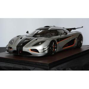 取寄せFA010-01 フロンティアート 1/8 ケーニグセグ Koenigsegg one1 OPEN silver|freestyle-hobby