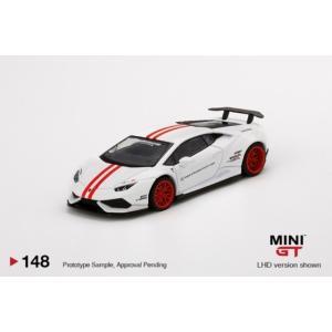 予約MGT00148-R TSM MINI-GT 1/64 ランボルギーニ LB★WORKS ウラカン Ver.1  ホワイト/レッドストライプ(右ハンドル)|freestyle-hobby