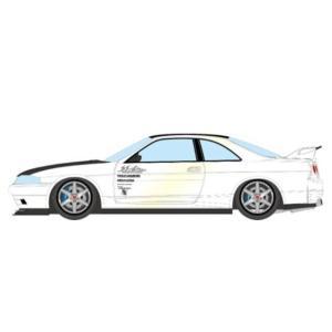 予約EM489A メイクアップ/アイドロン 1/43  Garage Active ACTIVE R33 GT-R Wide body Concept パールホワイト/カーボンボンネット|freestyle-hobby