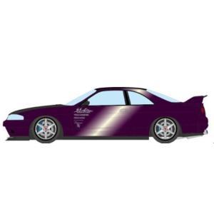 予約EM489E メイクアップ/アイドロン 1/43  Garage Active ACTIVE R33 GT-R Wide body Concept ミッドナイトパープル / カーボンボンネット|freestyle-hobby