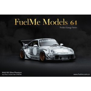 新品FM64002-RWB993-11B Fuelme Models 1/64 RWB 993 シル...