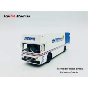 予約  Hpi64 1/64 メルセデス ベンツ トラック トランスポーター Mercedes Benz truck Porsche-Rothmans ポルシェ ロスマンズ|freestyle-hobby