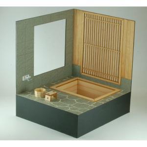 コバアニ模型工房 1/12 和の造作シリーズ 檜の露天風呂 木製ミニチュアキット WZ-012 組立キット WZ-012