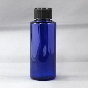 PET平キャップ容器100mlカラーボトル コバルトブルー