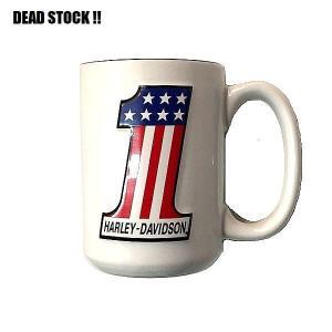 2004年に製造されたデッドストックのハーレーダビッドソン、マグカップになります。 ロゴ部分が立体的...
