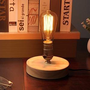 テーブルランプ 木ベース E26電球対応(電球別売) 調光スイッチ付き アンティークランプ 和風スタンド エジソン|freewaylovers