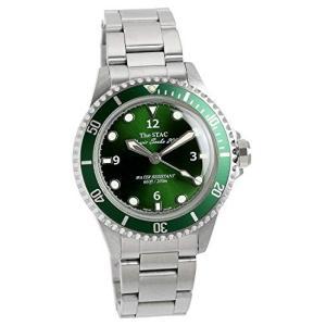 [ザ・スタック] The STAC 日本製 国産 クラシック ダイバーズウォッチ ディープグリーン スイープセコンド 腕時計|freewaylovers