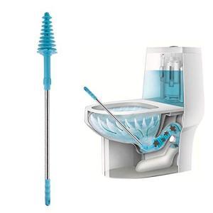 効率的で便利: 便器の排水口にトイレプランジャーを斜めで挿入することで、簡単かつ効果的に詰まった汚物...