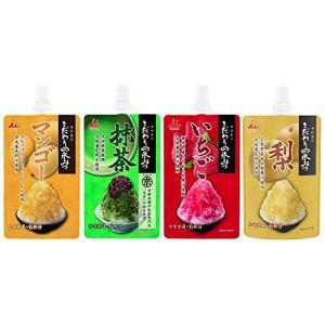 井村屋 かき氷シロップ 「こだわりの氷みつ」 4種セット (いちご 抹茶 梨 マンゴー) 各150g
